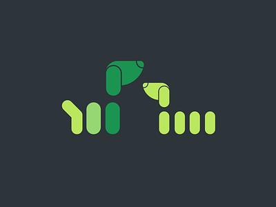 All My Pups Dark Background 01 значок брендинг вектор дизайн логотип