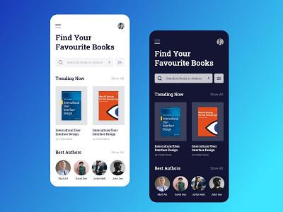 Ebbok Store Light & Dark Screen landingpage branding mobile ios android portfolio ux download store ebook app free ui