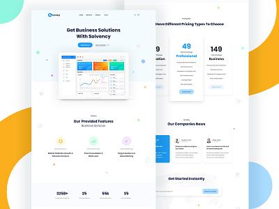 Saas Landing Page design pricing app ux ui web free technology software