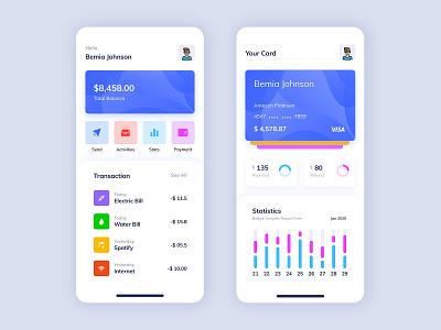 Mobile Wallet App UI Kit finance app credit card card payment free mobile wallet wallet financial app financial