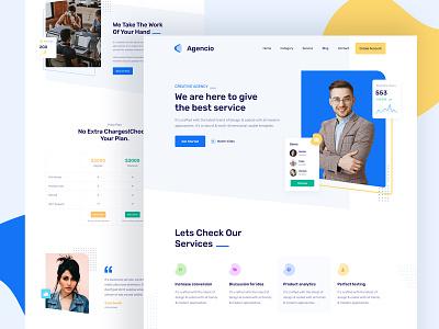 Agency Landing Page job landing page app ux ui corporate agency webpage web free landing page design