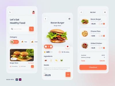 Food Order App landingpage ux ui app food delivery app food android app food mobile app fastfood cooking burger order restaurant delivery food free