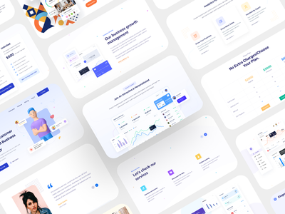 SaaS & Agency Landing Page Collection landing page responsive case study web website corporate agency