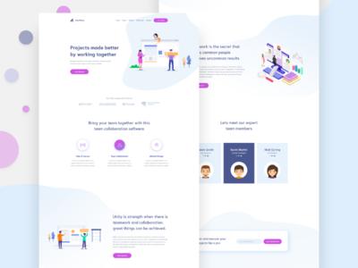 Team Work Landing Page