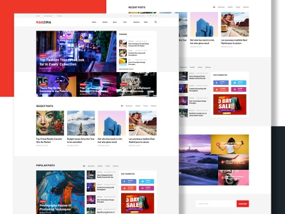 Magazine Landing Page template landingpage personal news blog magazine portfolio ux ui