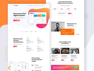 Saas Landing Page colorfull ux ui landingpage dashboard technology software corporate