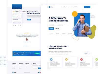 Agency Landing page design job landingpage illustration branding portfolio free app ux ui