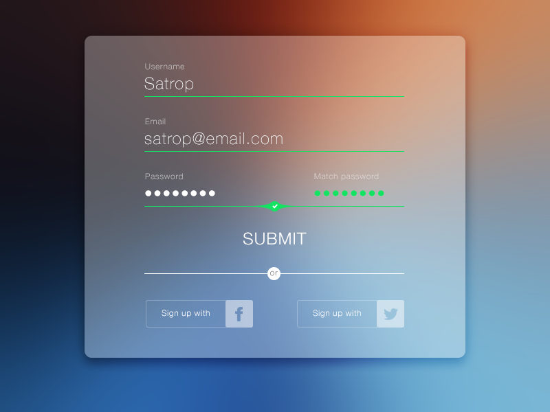 daily ui day 1 sign up sheet by steven portas dribbble dribbble