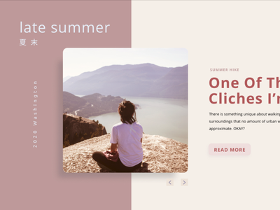 Late Summer Mood web interaction web design design ui