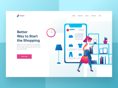 E-commerce header