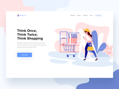 Shopping website header
