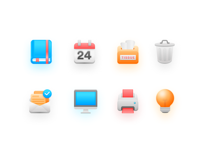 Office icon vector interface icon set office design website ui icon