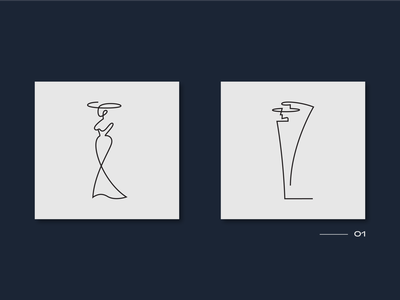 Woman and Man lineicons line pictogram man woman ai illustraion icon