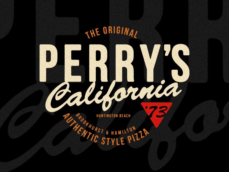 Perry's Pizza branding identity logo logotype typography
