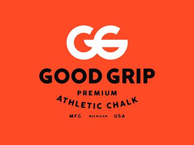 Good Grip Athletic Chalk mark fitness logo package design identity branding