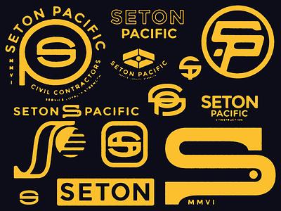Seton Pacific Civil Construction Co. logo typography branding identity