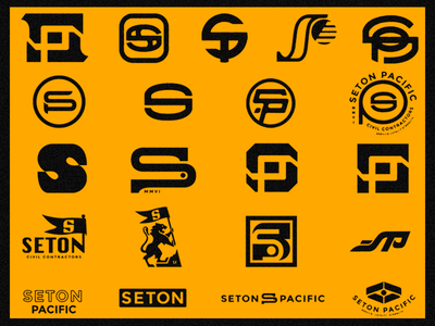 Seton Pacific Civil Construction Co. logo identity branding