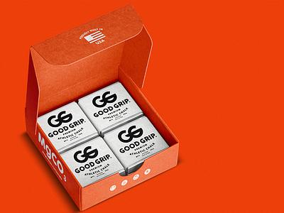 Good Grip Chalk Company fitness package design apparel design logo identity branding