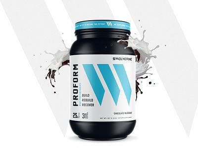 SWOLVERINE package fitness apparel design logo identity branding