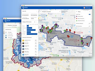 Location Intelligence Tool interface ux charts insights data intelligence