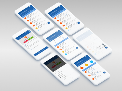 Lead Management System data ui crm software ux leads android app app