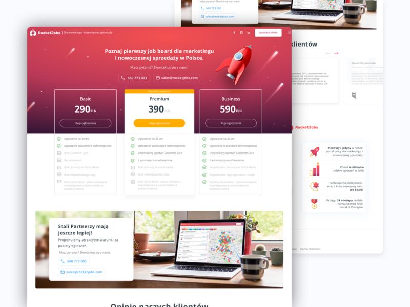 Pricing page - RocketJobs website web