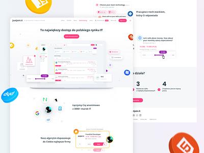 Landing page   Matchmaking technology programmer illustration website matchmaking landing page ux design web ui