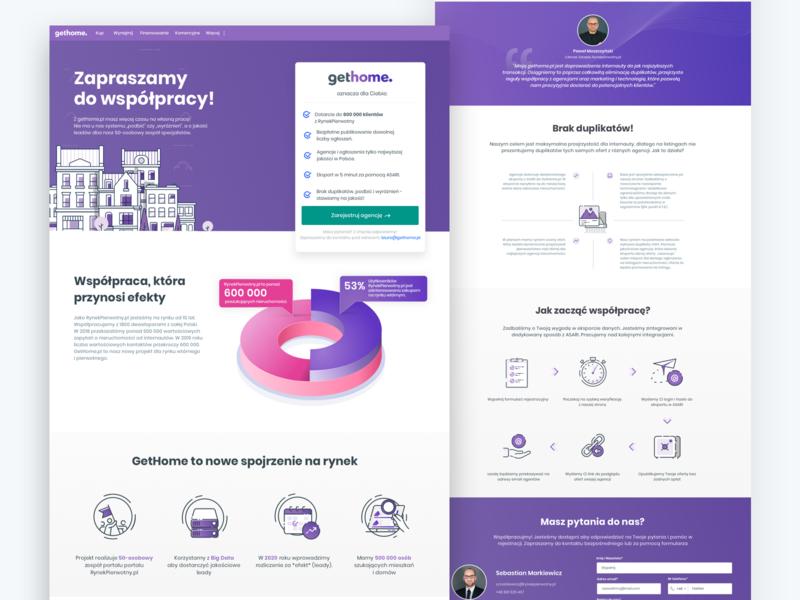 Gethome  sales page ux ui landingpage website seles branding webdesign web illustration