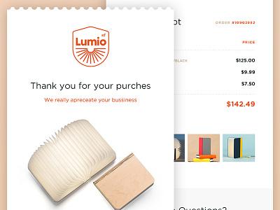 Daily UI #017 - Email Receipt + Free PSD freebie psd freebies ui dailyui daily ui receipt email lumio