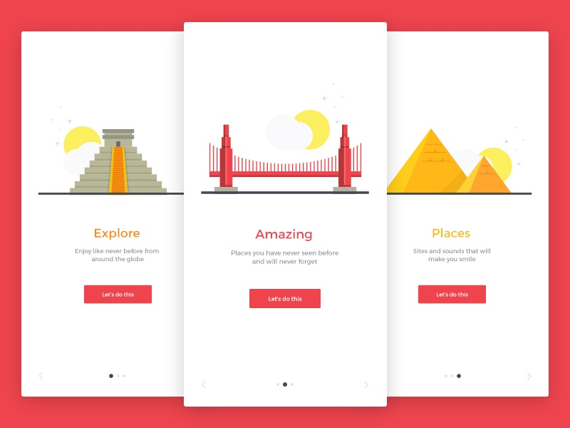 Onboarding Screens Free PSD template