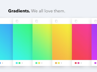 Gradients. We all love them. card cards love gradient colors psd gradients