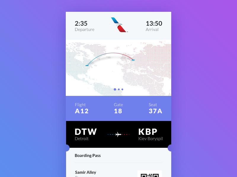 Daily UI #024 – Boarding Pass + Free PSD