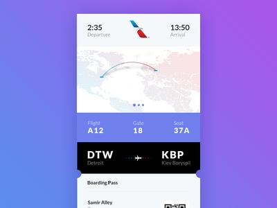 Daily UI #024 - Boarding Pass + Free PSD