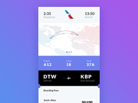 Daily UI #024 - Boarding Pass + Free PSD