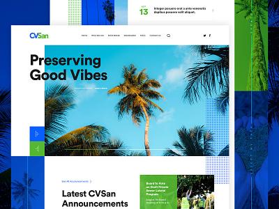 CVSans hero banner hero landing page design ux ui green blue eco friendly bold font typogaphy font vintage vibes vibrant