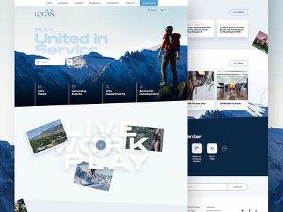 Logan, UT Homepage Concept