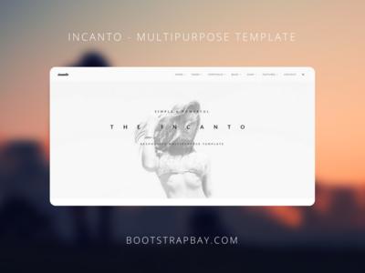 Incanto - Multipurpose Template ui kit jquerry multiporpose portofolio web site premium theme bootstrap