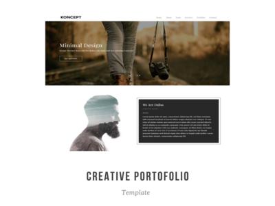 Koncept - Creative Portfolio Bootstrap Template template bootstrap minimal portfolio creative theme