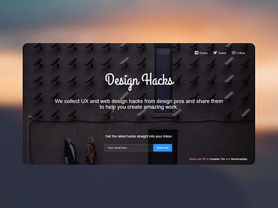 Design Hacks newsletter template bootstrap landing page design hacks