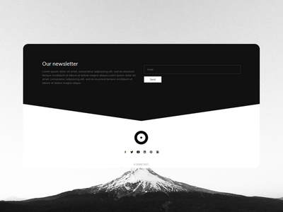 Dune Template minimalism black  white theme bootstrap html dune