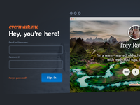 New Landing Page Design for Evermark.me