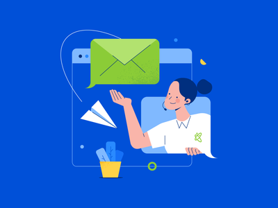 Contact Us customer care mail design ui illustration contact us