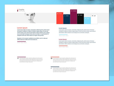 Sophia website photoshop psd website web