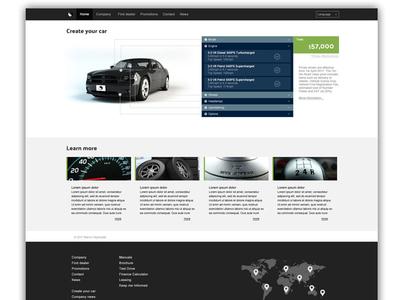 Car company website photoshop psd web website