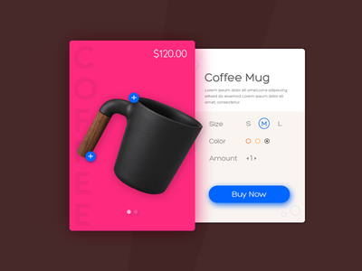 Product illustration for Ecommerce illustration cta call to action pink product page mug ecommerce