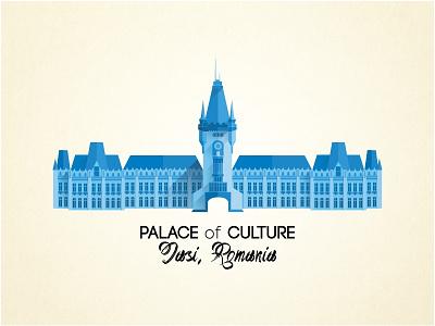 Palace of Culture flat design illustration illustration flatdesign palace oanamademe romania iasi