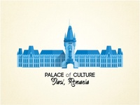 Palace of Culture flat design illustration
