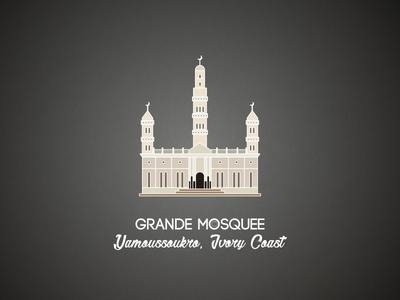 Yamoussoukro Grande Mosquee illustration