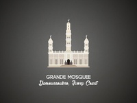 Yamoussoukro Grande Mosquee illustration