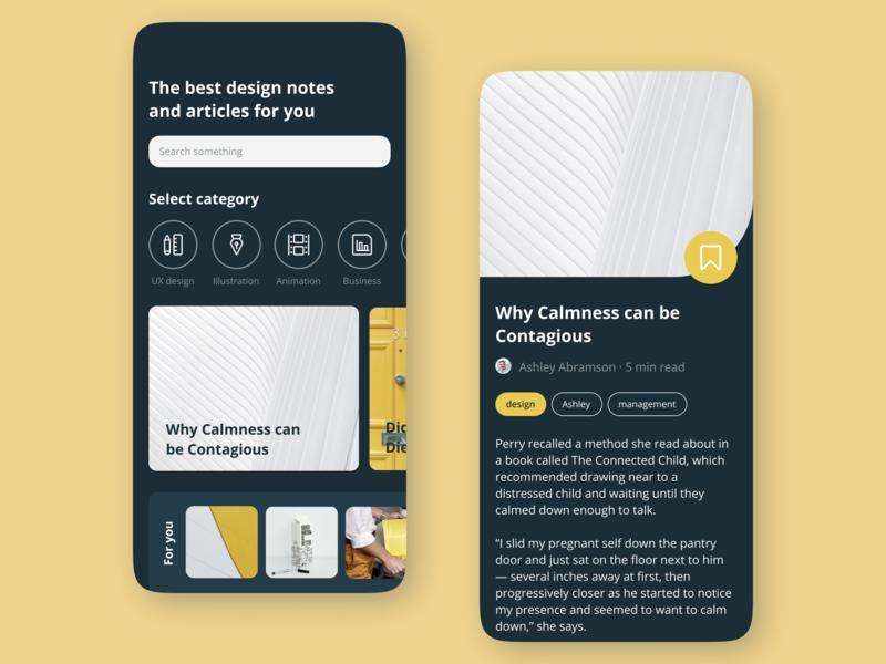 News app article news typography user interface ui ux mobile app mobile ios interface design design app design app